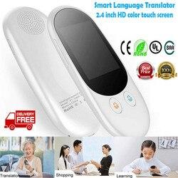 Portable Smart Voice Translator 2.4 inch Touch Screen Smart Real-time Intelligent Translator Multi-language Translator 3C29