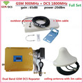 LCD 4G DCS 1800 MHz + 2G GSM 900 Mhz Dual Band Móvel Reforço de Sinal de telefone GSM 900 DCS 1800 Repetidor De Sinal Amplificador Repetidor