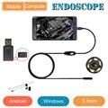 Android cámara endoscopio 5.5mm lente, longitud del cable 1 m 2 m 3.5 m soporte Win equipo también