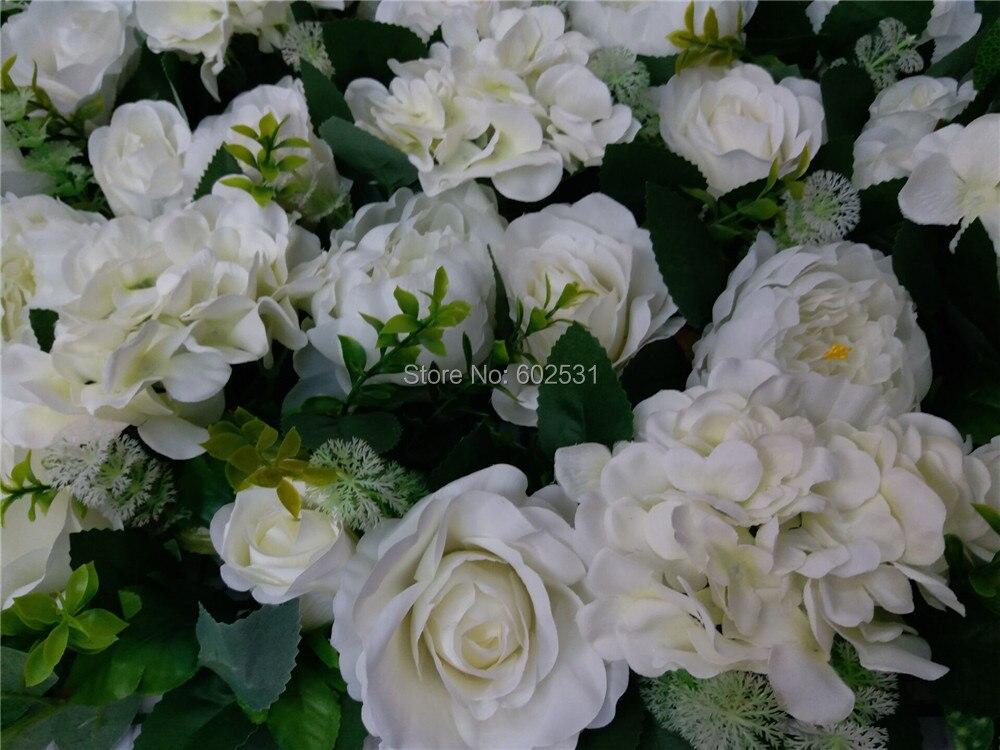 SPR 10 pcs/lot artificielle soie rose fleur mur pivoine mariage fond pelouse/pilier fleur route plomb marché décoration