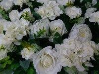 Spr 10 шт./лот искусственного шелка розы стены пион Свадебные фон газон/столб цветок дорога привести рынке украшения