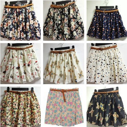 New 2014 Korean style 8 Colors Pleated Floral Chiffon fashion ...