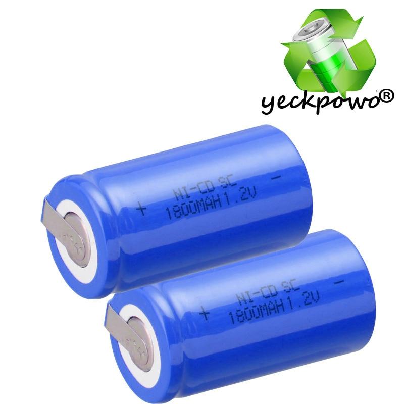 Capacidad verdadera! 25 unids SC batería subc batería recargable nicd 1.2 v acum