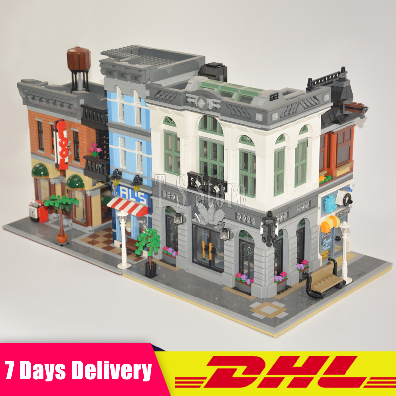 2018 LEPIN 15001 Brick Bank+15011 The Detectives Office Model Building Kits Blocks Bricks Toys For Children Gift 10251 10197