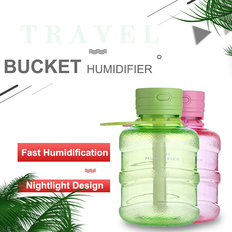 USB Mini Cool Mist Humidifier 300ML Portable Ultrasonic Air Diffuser With Atmosphere Night Light For Home Office Or Car