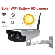 1080P Solar IP Camera 2MP Wireless Wi-fi Security Surveillance Waterproof Outdoor Camera IR Night Vision Solar Power HD Cam 2mp 1080p solar power wireless wifi ip camera with hotspot ap connection