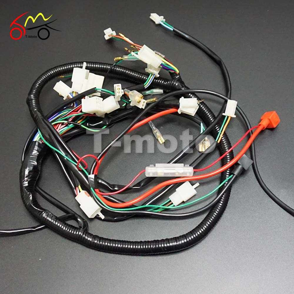 Full Wiring Harness Loom Ignition Coil CDI For 150cc 200cc 250cc 300cc  Zongshen Lifan ATV Quad Buggy Electric Start AC Engine