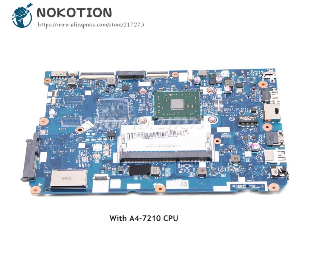 NOKOTION For <font><b>Lenovo</b></font> <font><b>Ideapad</b></font> <font><b>110</b></font>-15ACL Laptop <font><b>Motherboard</b></font> DG520 NM-B051 MAIN BOARD with A4-7210 CPU DDR3 image