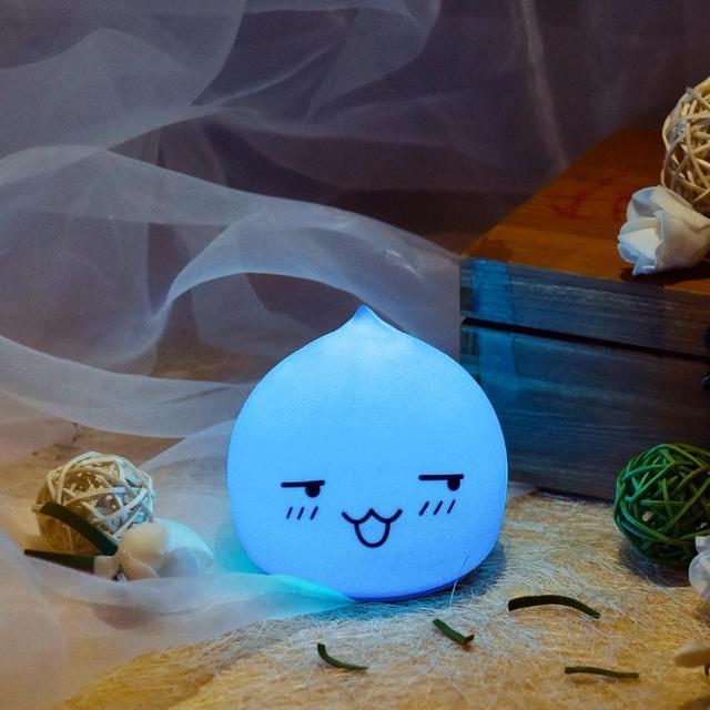 Dos Desenhos Animados Mini LED Colorido Silicone Water Drop Night Light Crianças Bebê Cabeceira Lâmpada Atmosfera Levou Ligh Dom Lâmpada de Cabeceira
