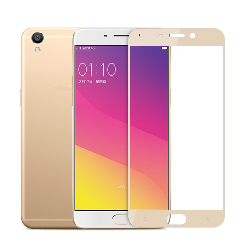 Protective Surface Full Screen Cover Explosion-proof Tempered Glass Film for OPPO R7 R7S R9 R9S A37 A59 A57 F1S Plus
