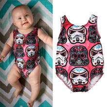 Cute Cartoon Bodysuits Newborn Baby Girls Star Wars Bodysuit