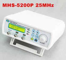 Cheap price MHS-5200P 25MHz Digital Arbitrary waveform generator Dual-channel  Function signal generator DDS Signal Generator