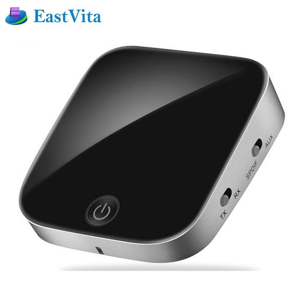 EastVita Bluetooth Sender Empfänger aptx Wireless Stereo Audio Adapter Bluetooth Empfänger mit SPDIF AUX 3,5mm ZHQ02