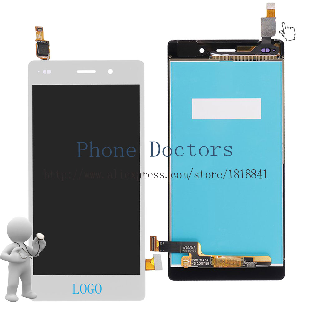 Full LCD DIsplay + Touch Screen Digitizer Assembly For Huawei P8 Lite ALE-L04 / L21 / TL00 / L23 / CL00 / L02 / UL00; White; New