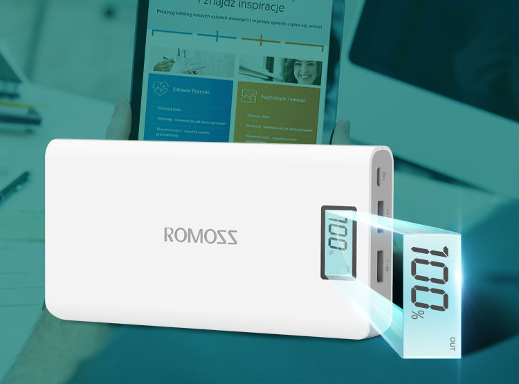 Original Romoss Sense 6 Plus Dual USB 20000mAh 18650 Power Bank 4