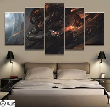 5 Panel LOL League of Legends Yasuo Game Canvas Printed Painting For Living Wall Art Home Decor HD Picture Artwork Modern Poster