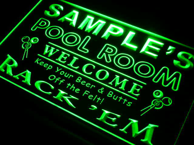 Py-tm Nom Personnalisé Pool Room étirent Bar Beer Neon Light Enregistrez-vous