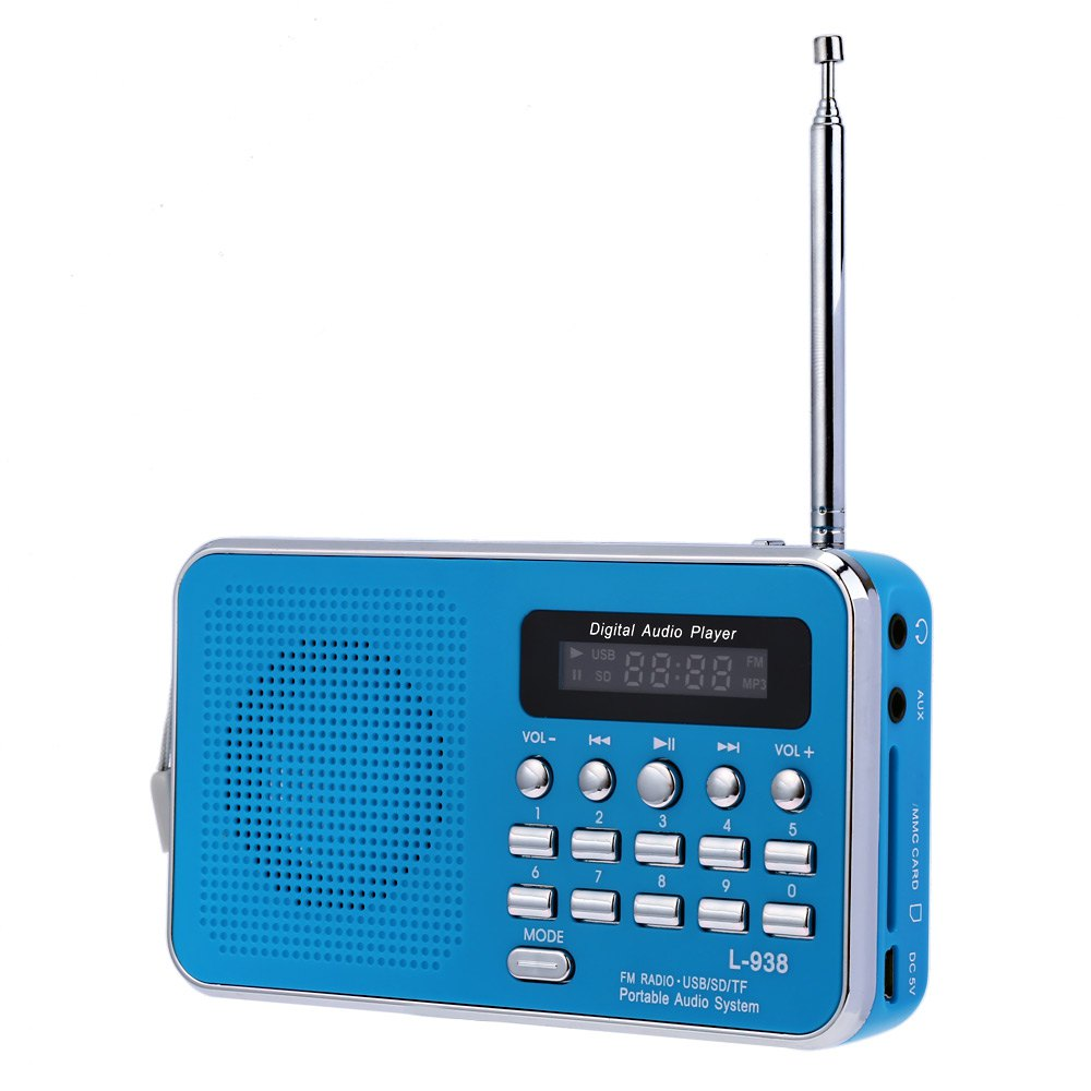 Lightweight Classical Vintage Style Radio L-938 Portable FM Radio Built-in Rechargeable Lithium Battery for Mobile Phone PC MP4