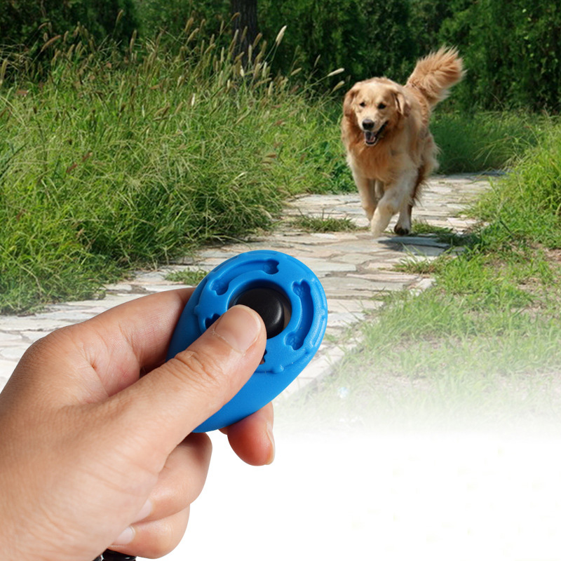 1 Pc Pet Trainer Hond Opleiding Hond Clicker Verstelbare Sound Sleutelhanger En Polsband Doggy Trein Klik Verpakking Van Genomineerd Merk