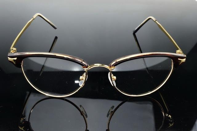 Baroque Palace Style Cat Eye Round Designer Frame Full-Rim Optical Custom Made Prescription Myopia Glasses Photochromic -1 To-6