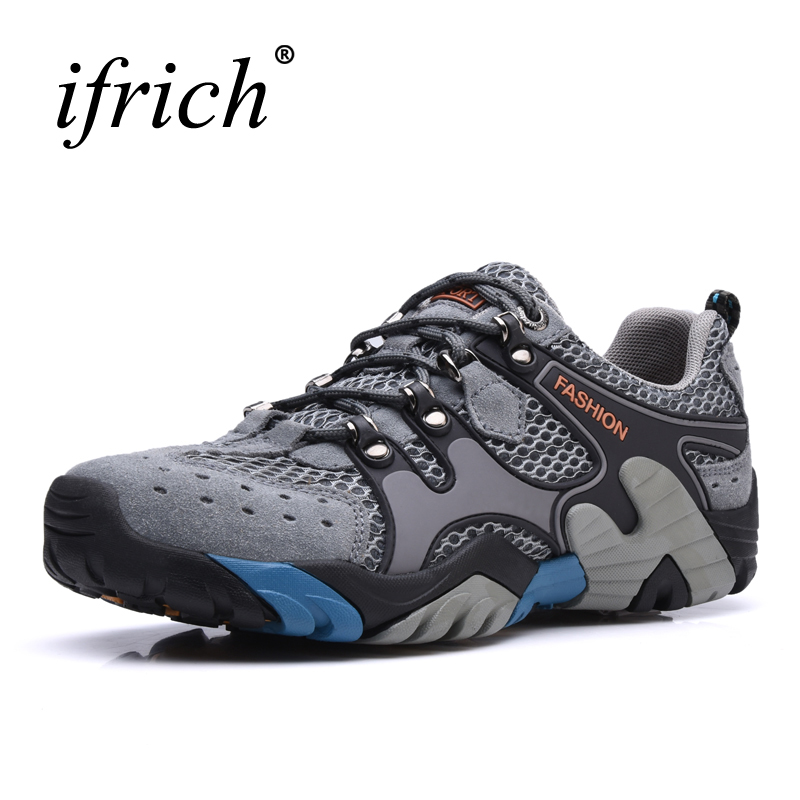 2019 New Outdoor Shoes Men Boots Hiking Climbing Sneakers Spring Summer Trekking Men Shoes 3 Color