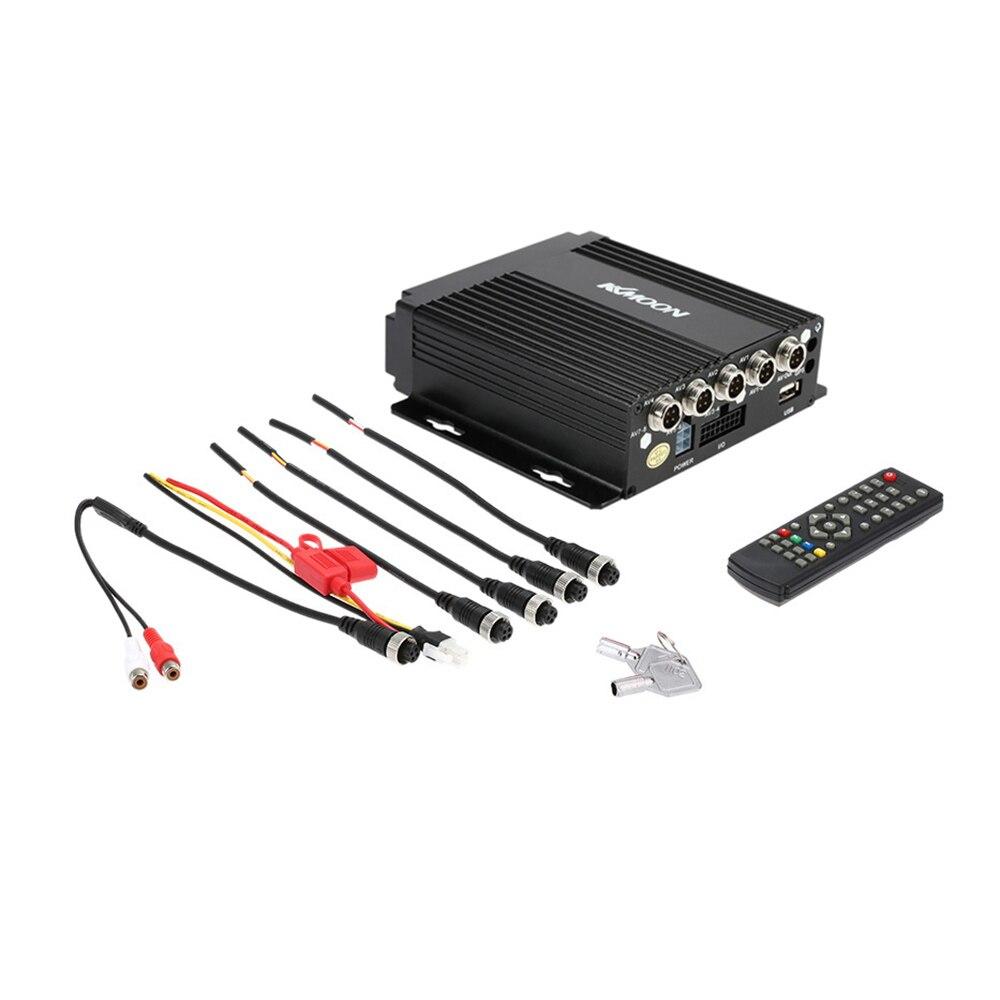 KKmoon MINI en temps réel SD voiture Mobile DVR 4CH entrée vidéo/Audio avec télécommande Encrption