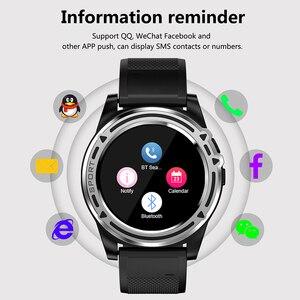Image 2 - 칙칙한 스마트 시계 전화 sw18 시계 sim 푸시 메시지 응답 전화 안드로이드 전화 pk q18 스마트 시계에 대한 블루투스 계산