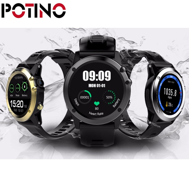 Potino Z01 3 г Смарт-часы IP68 Водонепроницаемый MTK6572 GPS WI-FI bluetooth шагомер сердечного ритма трекер Android IOS Камера трекер