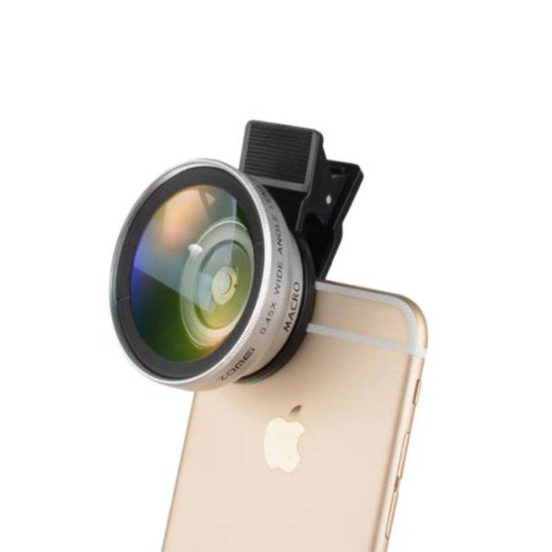 ZOMEI 37 مللي متر 0.45X كليب زاوية واسعة عدسة الكاميرا ل هاتف محمول العالمي