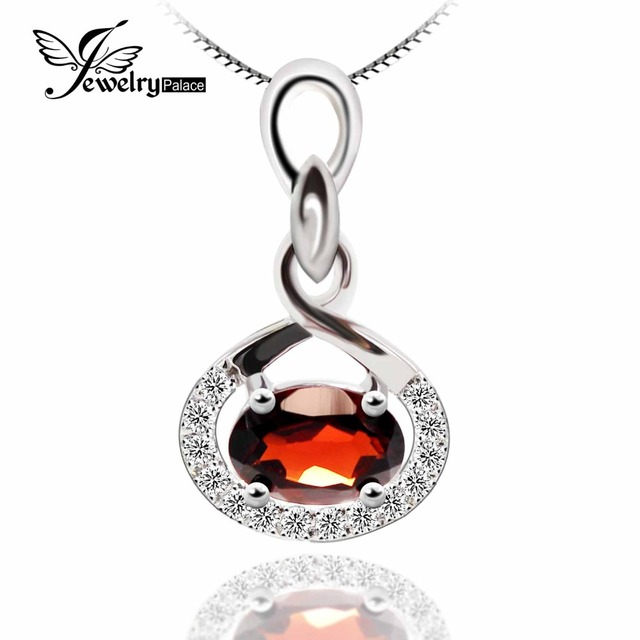 Classic VVS Red Natural Genuine Garnet Gemstone Pendant Real Solid 925 Sterling Silver Mozambique Natural Stone Pendant