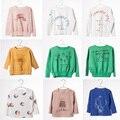 5 unids/lote bobo choses nueva primavera 2017 marca patrón de la camiseta de la moda camisetas 2 a 7 t sylvia 545381432021