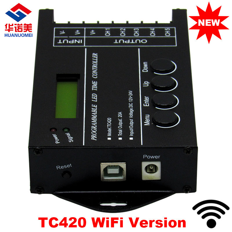 Light Controller With Timer: New TC420 WiFi Time Programable Rgb Led Controller Dimmer