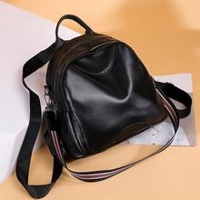 Luxury Knapsack Mini PU Backpack Women Bags Designer Large Capacity Soft Leather for Female Travel Shopping 2019 New Fashion Bag