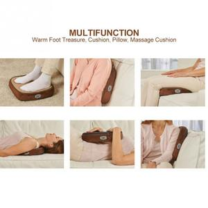Image 4 - 2 IN 1 Electric Heated Foot Warmer Cosy Unisex Velvet Feet Heated Foot Warmer Massager Big Slipper Foot Heat Warm Massage Shoes
