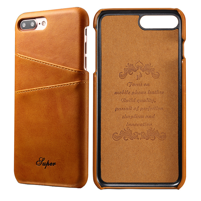 reputable site fa775 662c1 US $7.99 20% OFF|Luxury PU Leather Wallet Case For iPhone 8 Plus Credit  Card Slot ID Holder Back Cover for iPhone8 Plus Phone Cases Capinha 2018-in  ...