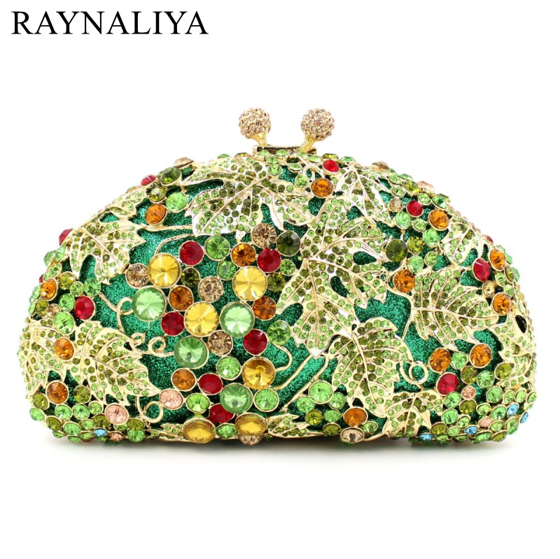 Fashion Women Jewelry Clutches Crystal Evening Bags Flower Wedding Party Bag Banquet Clutch Purse Luxury Smyzh-e0354