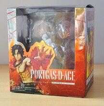 14 cm une pièce zéro Portgas D Ace bataille Ver. Jouets de modèle de figurine d'action de PVC de Fleam avec la boîte originale