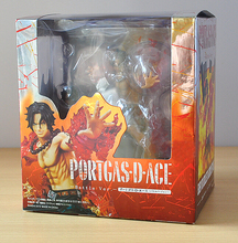 14cm One Piece ZERO Portgas D Ace Battle Ver. Fleam PVC Action Figure Model Toys with Original Box