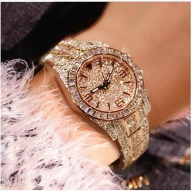 2017 New Women Rhinestone Watches Lady Dress Women watch men Diamond Luxury bran