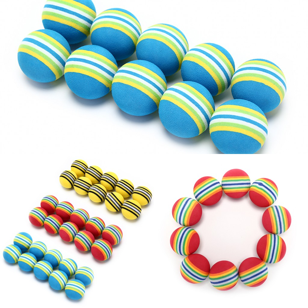 HOT 10pcs Golf Sponge Soft Rainbow Balls Golf Swing Training Balls Sponge Foam Sponge Golf Ball  For Golf/Tennis Training