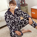 Adult Formal Flannel pajamas winter Thickening Large size Plus velvet Men Coral cashmere Home clothing