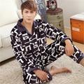 Formal de adultos pijamas de Flanela Espessamento inverno Homens de Grande Porte Além de veludo Coral cashmere de roupas Em Casa