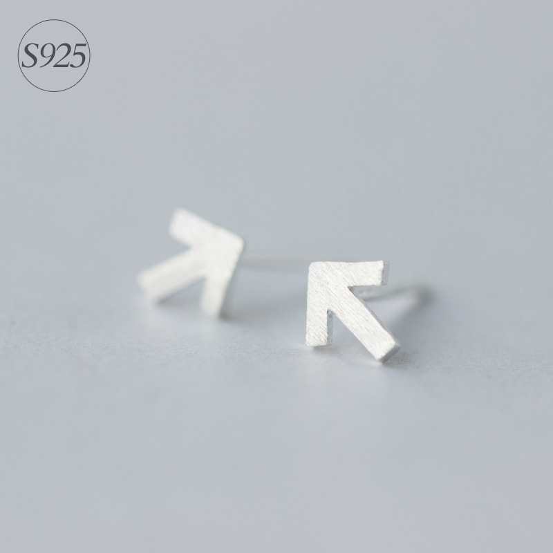 MIESTILO Cool Arrow Brushed 925-sterling-silver Minimalist Stud Earrings Gift Guaranteed Sterling-silver-jewelry Special Store ...