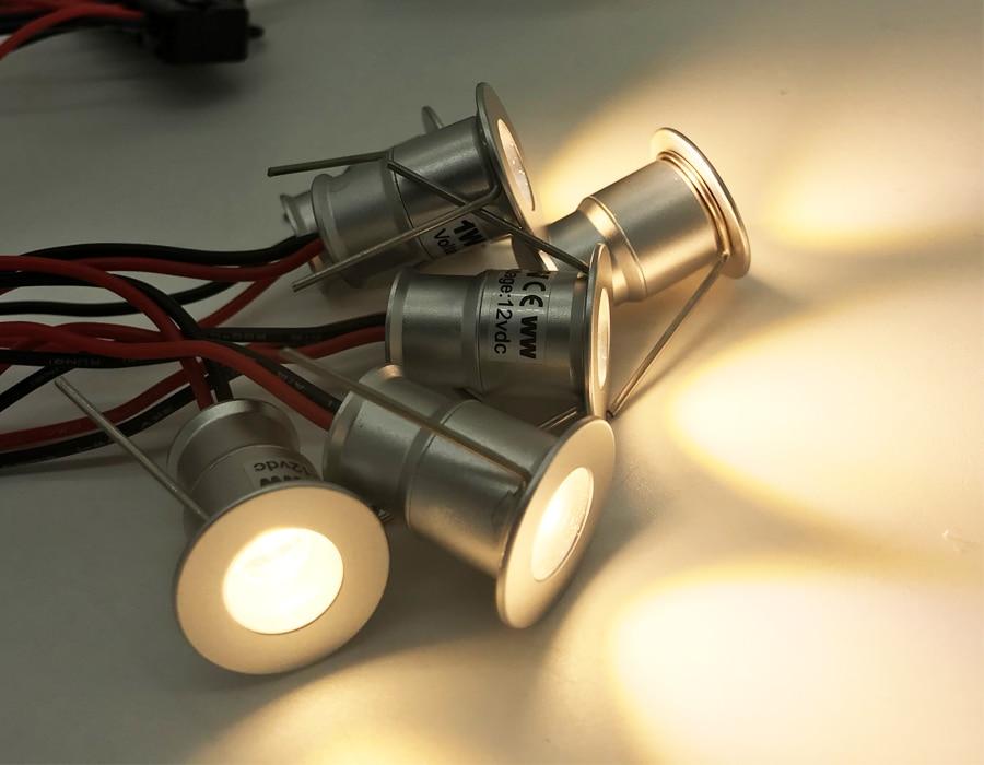 lowest price 9PCS 1W IP65 D15mm DC 12V Waterproof 100Lm 80Ra Mini Led Spotlight Outdoor Garden Bulbs Spot Lighting CE RoHS