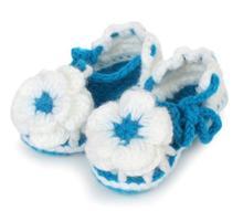 1 пара горячая распродажа симпатичные мягкие девочки цветы ручной работы вязать фотографии реквизит малыша обувь детская кроватка обувь 11 см