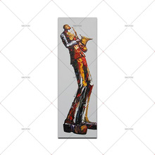 Hand Painted Sachs Man pure hand-painted oil painting decorative living room bedroom character impression pictures