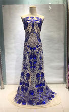 High Quality African Lace fabric embroidery guipure lace Latest french net with sequins  SL1074