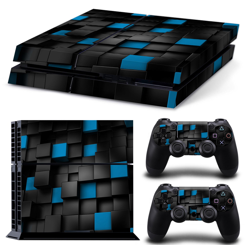 3D Vision Cool Vinyl Skin Sticker for PS4 Console and Controllers Decal free shipping