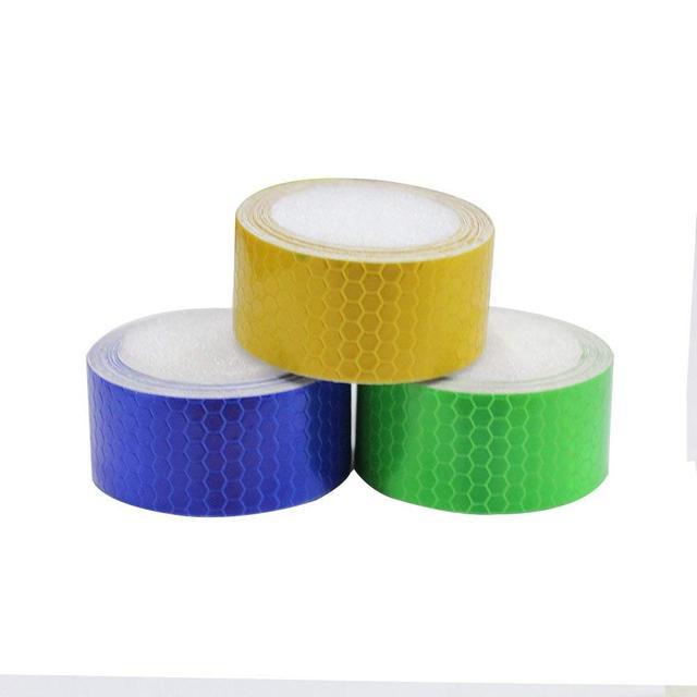 MyHung 3Pcs Honeycomb Self-Adhesive Safety refelctive Warning Marking Reflector Tape