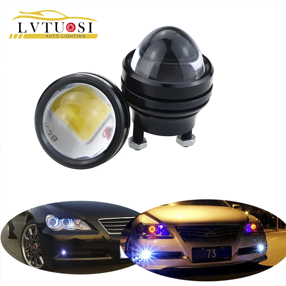 LVTUSI 2PCS Luce di marcia diurna super luminosa LED Light Eagle Eye DRL Luci di parcheggio impermeabili 12V per tutte le auto F